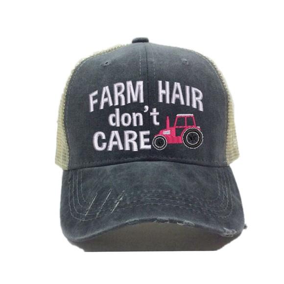 Farm Hair Don t Care Women s Trucker Hat 715f7386e51
